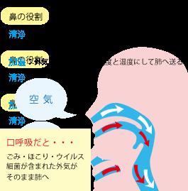 仙臺薬局☆鼻呼吸と口呼吸